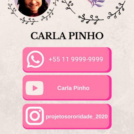 Cartão virtual Carla Pinho