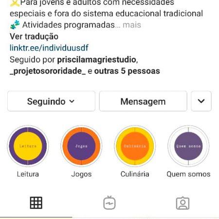 Perfil Individuus no Instagram