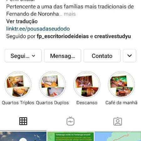 Perfil Pousada Seu Dodó no Instagram